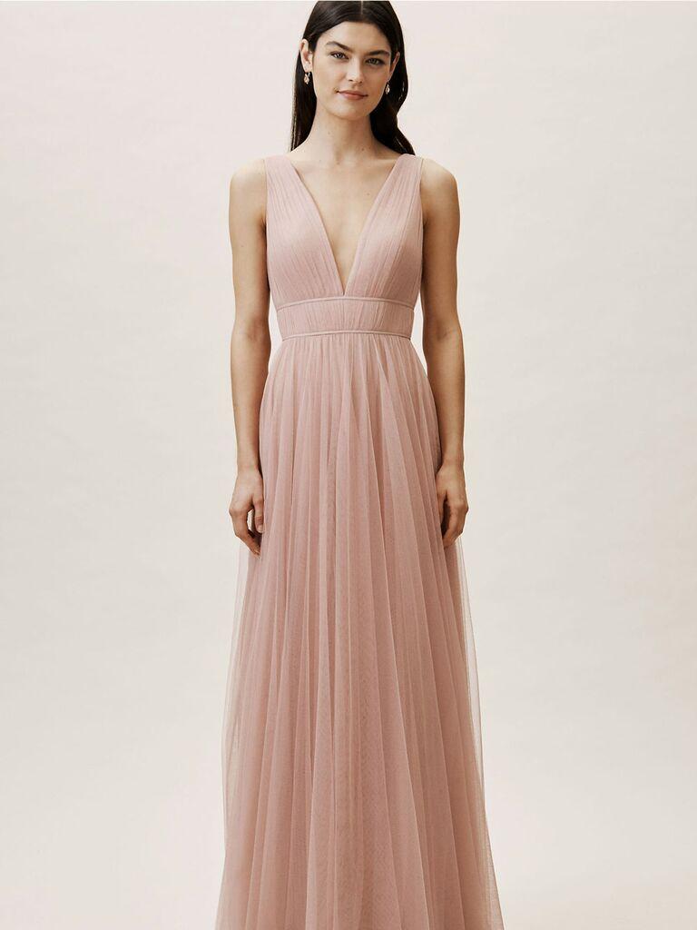 Blush sleeveless Jenny Yoo spring bridesmaid dress