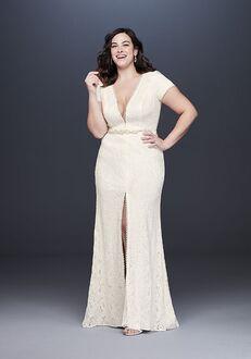 David's Bridal Galina Style 9WG3951 Sheath Wedding Dress