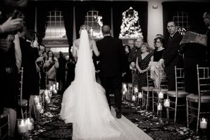 Candlelit Aisle and Chapel Veil at Processional
