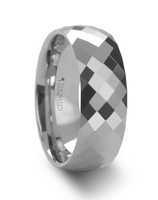 Mens Tungsten Wedding Bands W640-MDFW Tungsten Wedding Ring