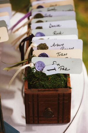 DIY Bookmark Escort Cards