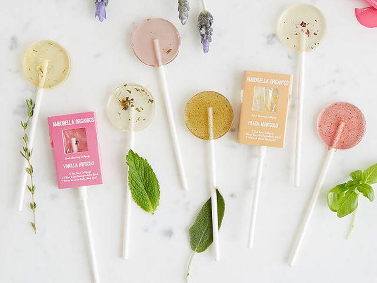 uncommon goods floral lollipops