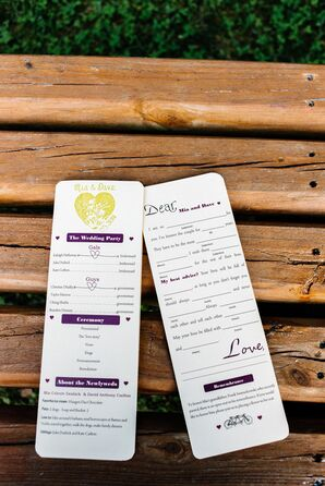 Playful Purple Ceremony Programs