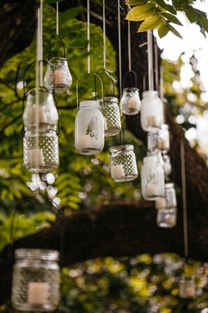 Hanging Mason Jar Ceremony Decor