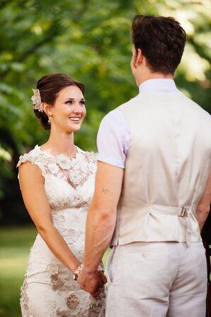 Delicate Lace Claire Pettibone Wedding Dress