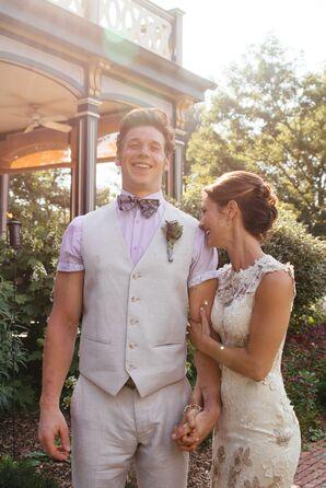 Mia and David's Rustic Purple Wedding