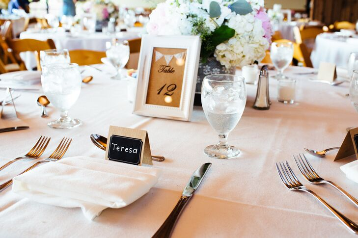 Simple Rustic Table Numbers and Place Cards
