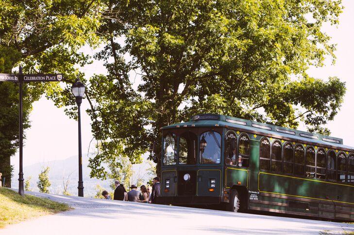 Trolley Wedding Guest Transportation
