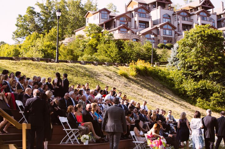 Taryn and Jeff's Outdoor Asheville Wedding Ceremony