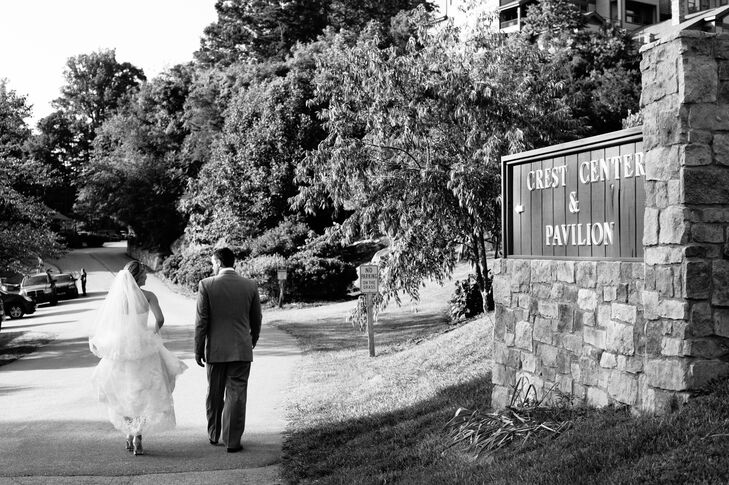 """""""We wanted to have have a smaller wedding so that we could spend more time with each of our guests,"""" says Taryn. """"We decided on a destination wedding but we also wanted to have it someplace our grandmothers would still be able to travel and Asheville was perfect."""""""