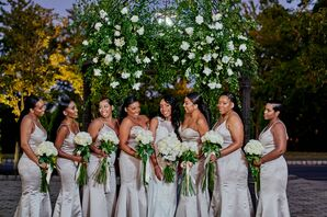 Wedding Party Portraits at The Gramercy at Lakeside Manor in New Jersey