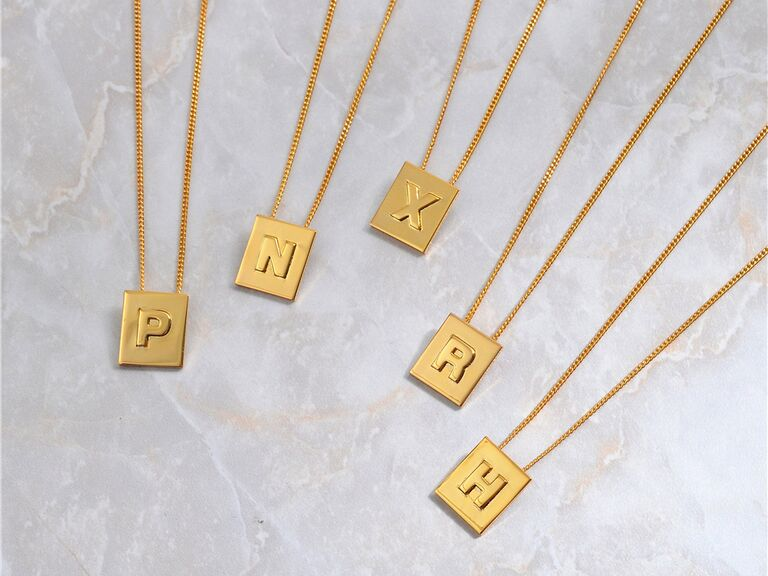 Initial necklace gift for sister-in-law