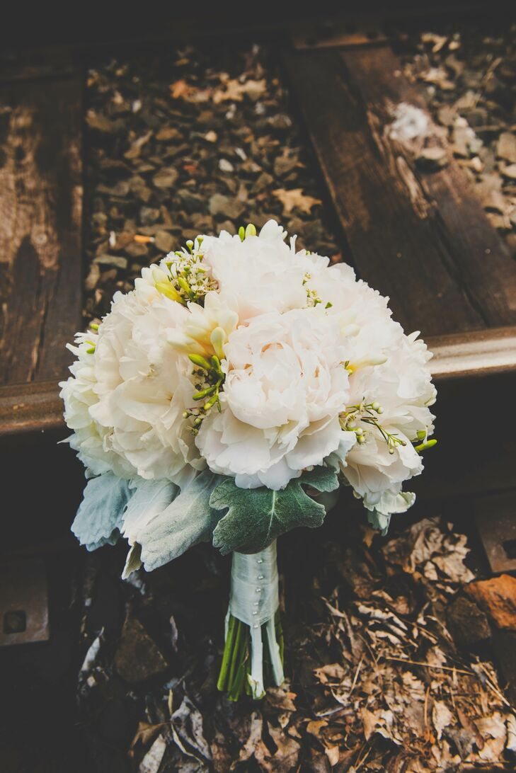 Blush and White Peony Bouquet