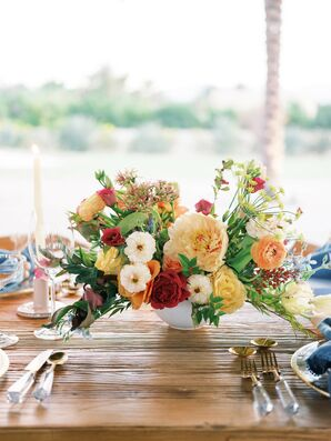 Vibrant Flower Arrangement for Wedding in Coachella, California