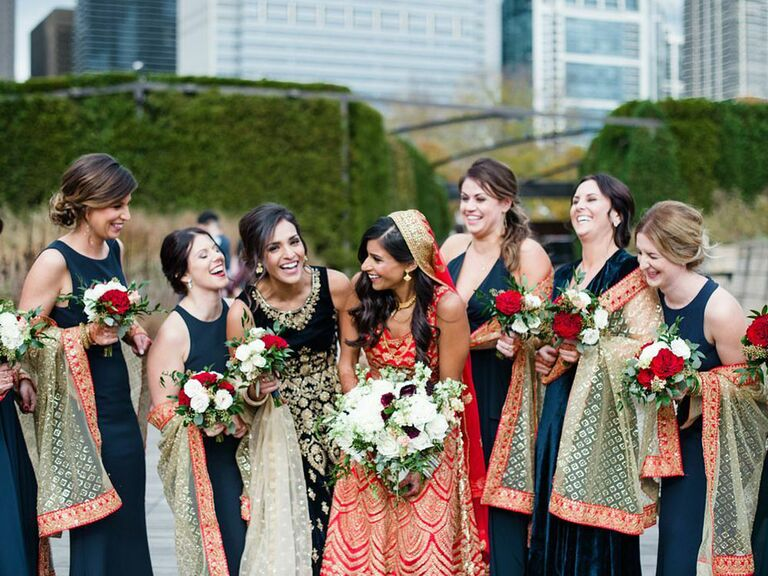 Candid bridesmaid photo