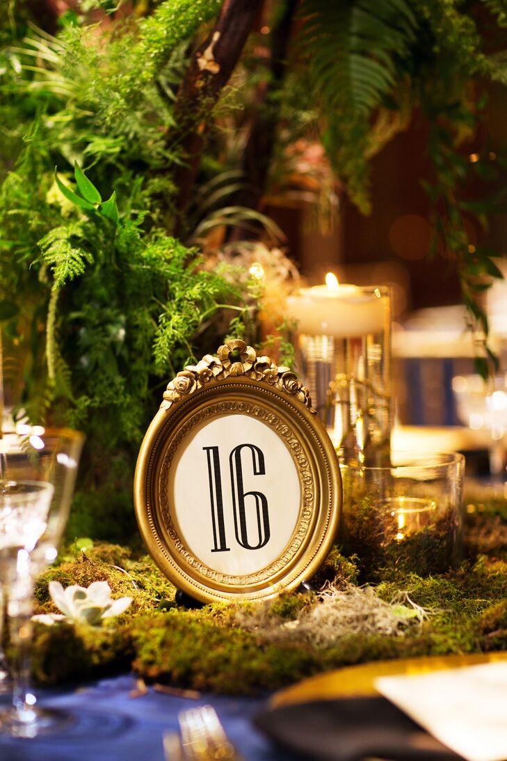 Framed Vintage Table Numbers