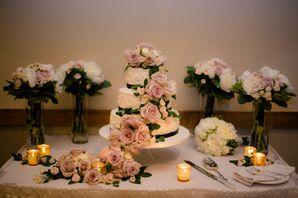 Buttercream Wedding Cake With Cascading Roses