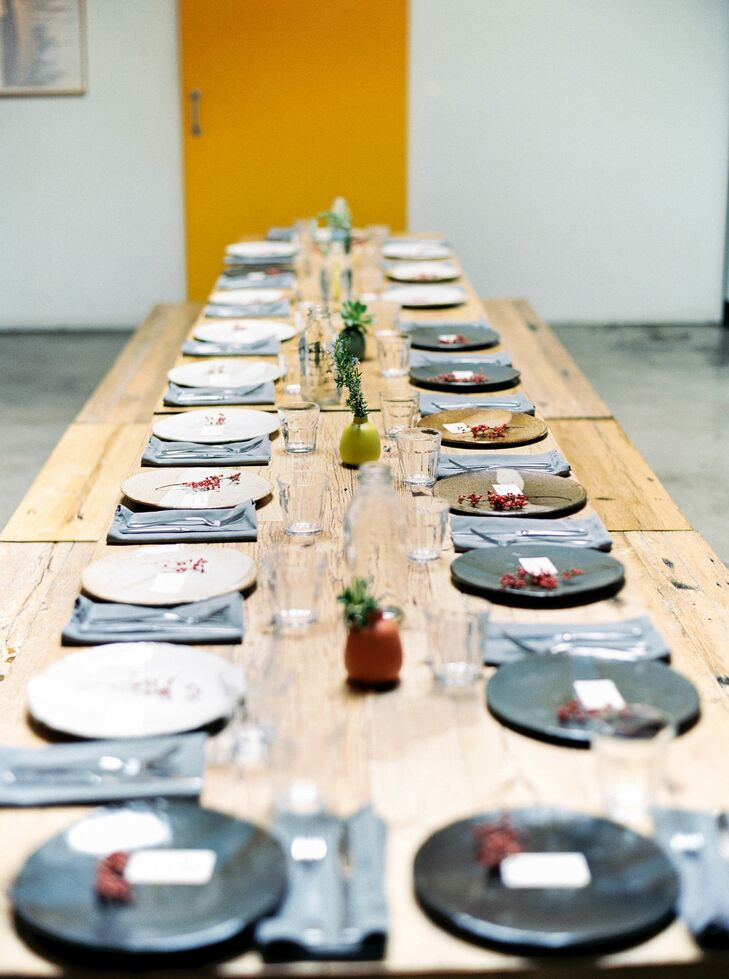 Farm Table for Reception at Elysian in Los Angeles
