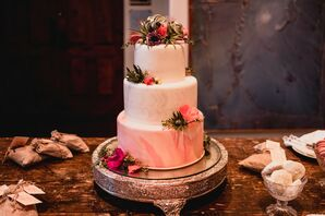 Bohemian Tiered Fondant Cake with Desert Flowers