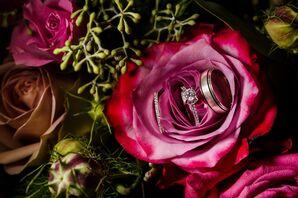 Round-Cut Diamond in Diamond Embellished Setting