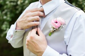 Ranunculus and Baby's Breath Boutonniere
