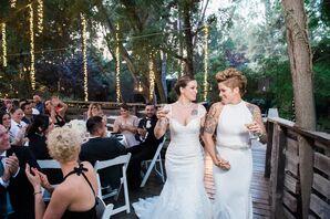 Elegant Black-and-White Wedding in Malibu