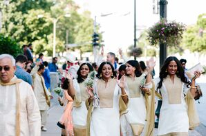 Wedding Party Makes Traditional Indian Ceremony Entrance