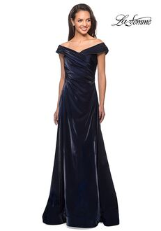 La Femme Evening 27846 Blue Mother Of The Bride Dress