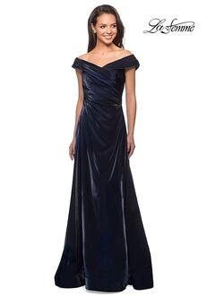 La Femme Evening 27846 Blue Mother Of The Bride Dress
