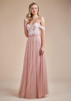 Belsoie Bridesmaids by Jasmine L224056 Off the Shoulder Bridesmaid Dress