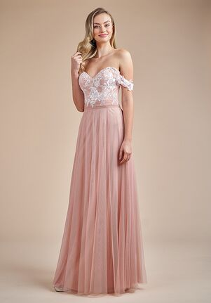 Belsoie Bridesmaids by Jasmine L224056 Off the Shoulder Bridesmaid Dress