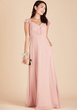 Birdy Grey Kae Bridesmaid Dress in Rose Quartz V-Neck Bridesmaid Dress