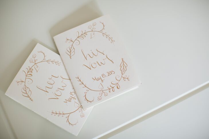Whimsical Gold Vow Books