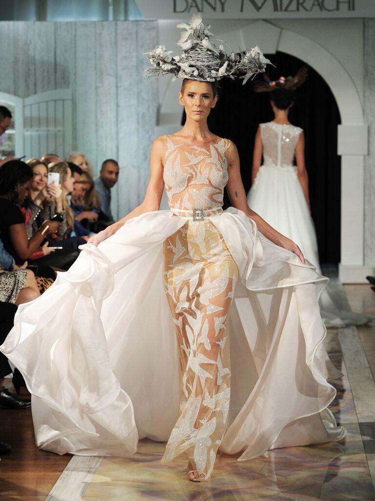 Dany Mizrachi Fall 2019 wedding dress with bird cutouts