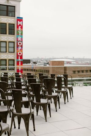 Urban Rooftop Ceremony at Anew in St. Louis, Missouri
