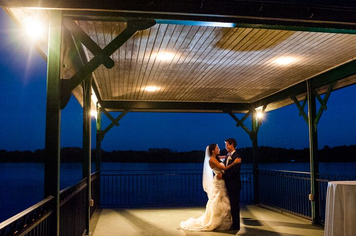 """Kassandra Edmonds (26 and in medical sales) and Brian Walsh (33 and in medical sales) weren't afraid to use """"spring"""" colors at their fall wedding. """"We"""