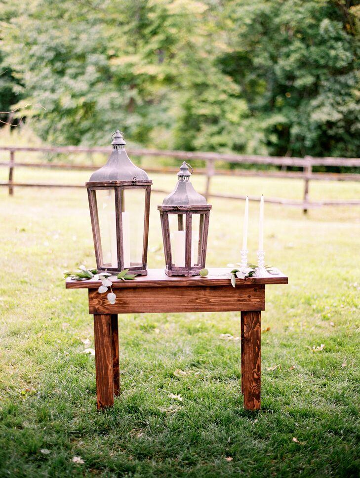 Rustic Lantern Ceremony Decor