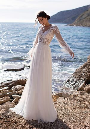 WHITE ONE ESSENTIALS PERIWINKLE Ball Gown Wedding Dress