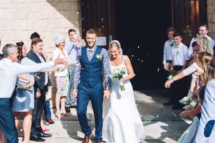 Rachel and Nile's Happy Wedding Exit
