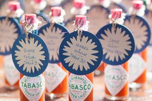 DIY Tabasco Sauce Escort Cards