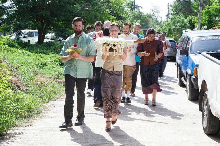 Traditional Thai Khan Maak processional