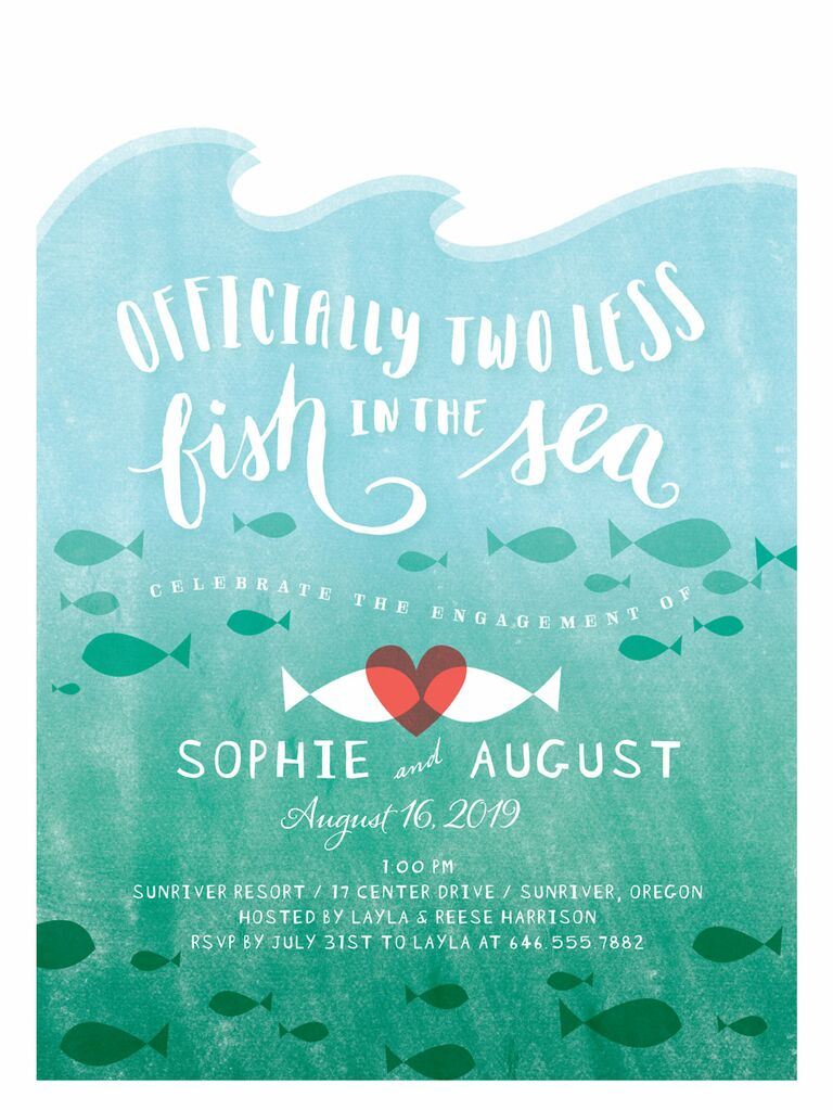 Cute nautical engagement party invitation