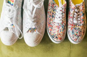 Colorful Pride-Themed Shoes