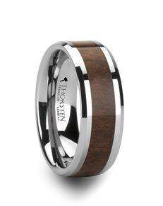 Mens Tungsten Wedding Bands W805-BWIT Tungsten Wedding Ring