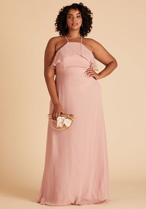 Birdy Grey Jules Curve Dress in Rose Quartz Halter Bridesmaid Dress