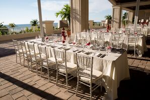 Outdoor Terrace Reception at the Marco Beach Resort