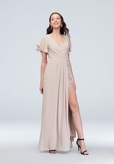 David's Bridal Collection David's Bridal Style F20039 V-Neck Bridesmaid Dress
