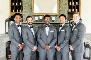 Dapper Groomsmen in Tuxedos