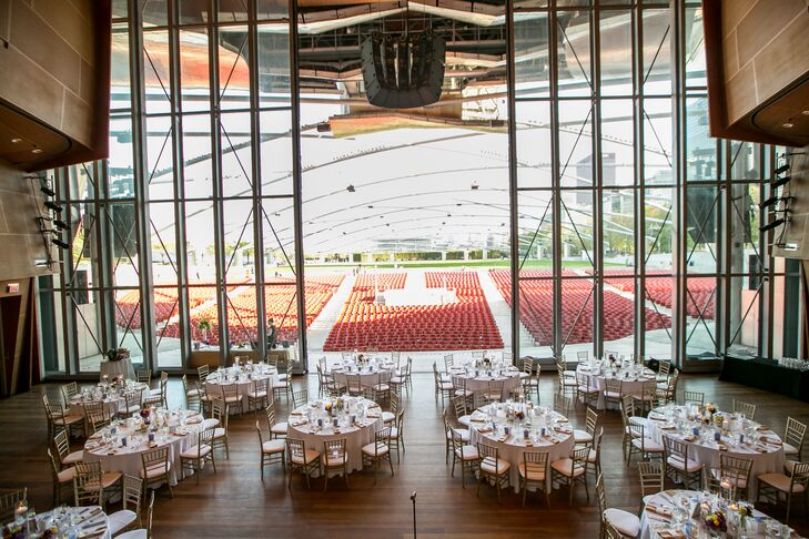 Modern Wedding Reception at Jay Pritzker Pavilion
