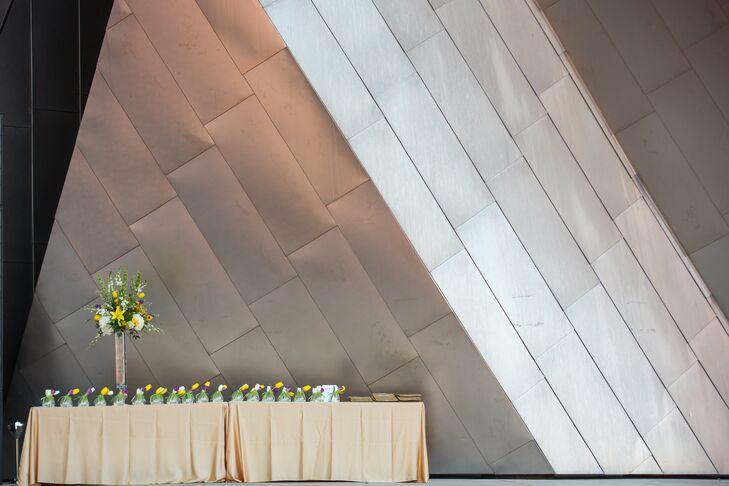 Modern Wedding Reception at Jay Pritzker Pavilion